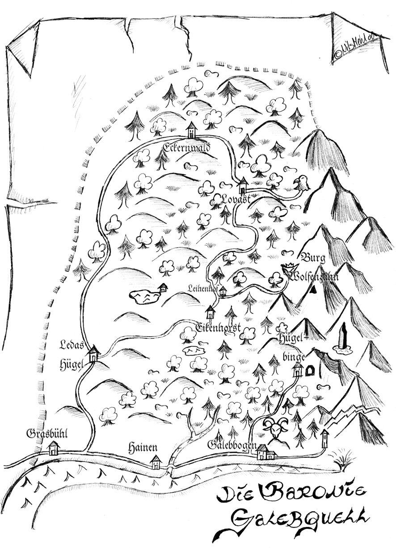 Karte der Baronie Galebquell, Künstler: N. Mehl